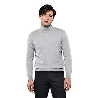 Turtleneck grey sweater | wessi