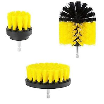 Electric Scrubber Brush, Drill Kit Plastic, Round Cleaning For Carpet, Glass,