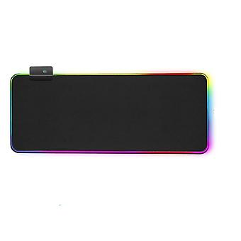 Rgb Gaming Led Computer, Mouse Pad Mat With Backlight Carpet For Keyboard, Desk