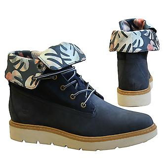 Timberland Kenniston 6 Inch Roll Top Navy Leather Lace Up Womens Boots A1PAS B2A