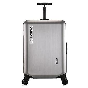 Silver Luggage, Wheel Trolley, Scroll Suitcase, Password Bag Abs+pc Valise