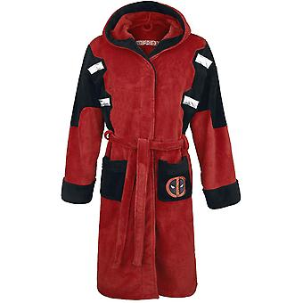 Deadpool Official Marvel Fleece Adult Dressing Gown Bathrobe - One Size