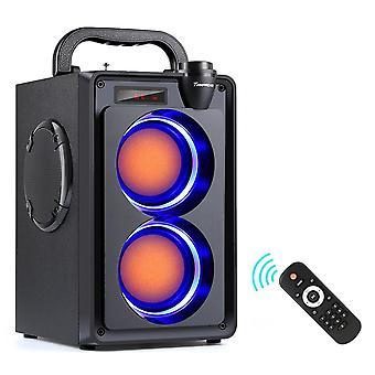 20w Bluetooth Portable Wireless Stereo Bass Subwoofer Speaker - Column Support