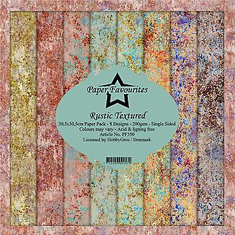 Paper Favourites Rustic Textured 12x12 Inch Paper Pack