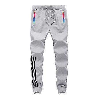 Men Joggers Pants, Casual Striped Male Trousers, Cotton Sweatpants, Fitness