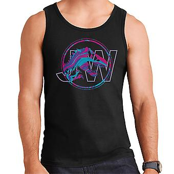 Jurassic Park JW T Rex Blue And Pink Gradient Men's Vest