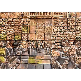 Tapete Wandbild Antike Wandmalerei am Wat Phumin (84975637)