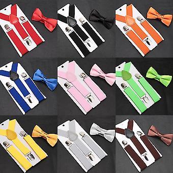 Bowtie Mode,, Zahnspangen, verstellbare Hosenträger Baby Hochzeit Krawatte