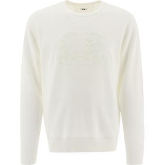 C.p. Företag 10cmss159a002246m103 Män's Vit Bomull Sweatshirt