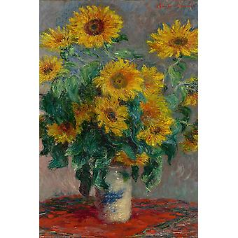 Claude Monet Poster Bouquet Of Sunflowers 91.5 x 61 cm