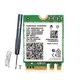 Wireless Dual Band 2400mbps Wifi 6 Para Intel Ax200 Ngff M.2 Bluetooth 5.1, Tarjeta