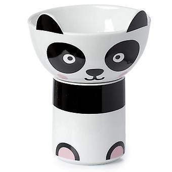 Lasten'posliinimuki ja kulhosetti - söpö panda