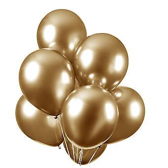 """Ballonger 10-pack Chrome - Guld- 30 cm (12"""")"""