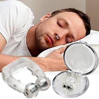 magnetisk anti snorking nasal dilator stoppe snorke neseklips enhet