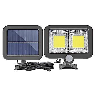 Cob 100 Led Solar Outdoor Light  Pir Motion Sensor Split Solar Wall Spotlights