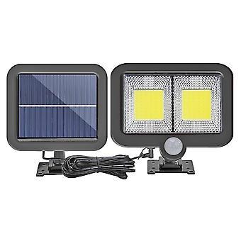 Cob 100 Led Solar Outdoor Light Pir Liiketunnistin Split Solar Wall Spotlights