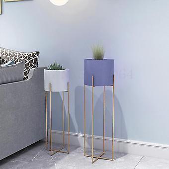 Nordic Takorautainen kukkateline - Yhden hengen sisähuoneen lattia Moderni