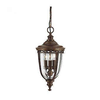 Lámpara Colgante Inglesa Bridle, Bronce, Mediano