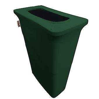 La Linen Stretch Spandex Trash Can Cover For Slim Jim 23-Gallon, Hunter Green