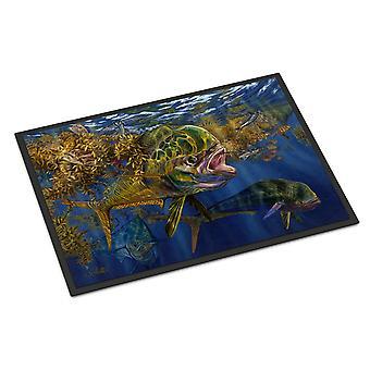 Caroline's Treasures Seaweed Salad Mahi Tappetino interno o esterno 18x27 zerbini, Multicolor