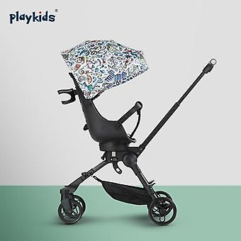 Portable Foldable Baby Stroller With Four Wheel