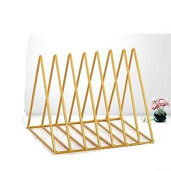 Wrought Iron Creative Triangle Bookshelf