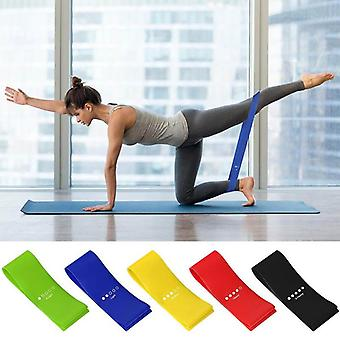 12 inch Resistance Loop Exercise Bands with Carry Bag, Set of 5 Workout Booty Bands for Legs and Butt, Skin & Eco Friendly