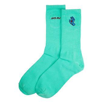 Santa Cruz Screaming Mini Hand Socks - Jade Green