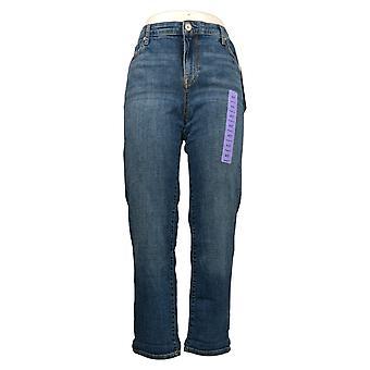 Chaps Jeans Women's 4/27 Slim Boyfriend 5 Pocket Blue