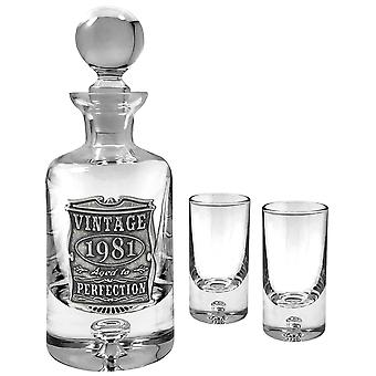 180ml Vintage Years Mini Decanter Set 1981
