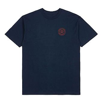 Brixton Oath T-Shirt Blue Red
