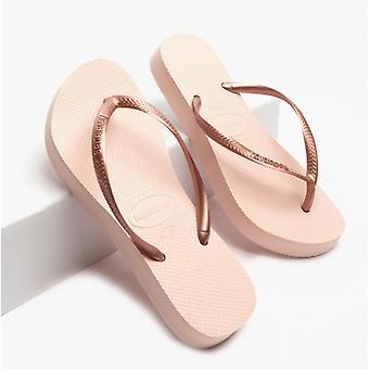 Havaianas Hav Slim Flatform Ladies Flip Flops Ballet Rose