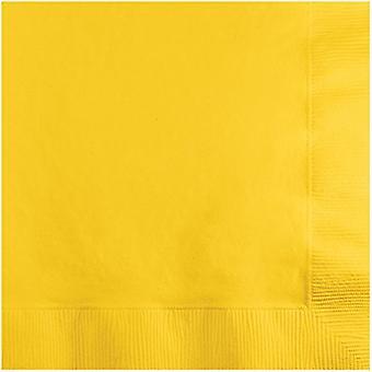 Bn 12/20Ct 2P Schoolbus Yellow Napkin