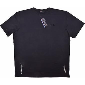 ESPIONAGE Espionage Mens Big Size Performance Sports T Shirt Navy