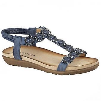 Cipriata Giovanna Ladies Ankle Strap Sandals Navy