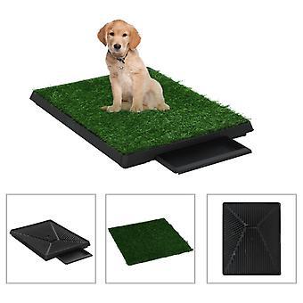 vidaXL الحيوانات الأليفة المراحيض 2 PCS صينية العشب الاصطناعي الأخضر 63x50x7cm WC