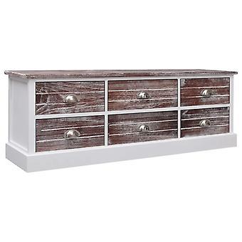vidaXL Hallway bench brown 115x30x40 cm wood