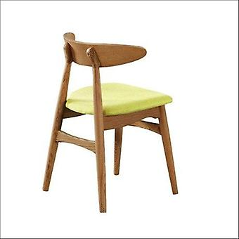 Cafe Furniture Solid Wood+cotton Fabric Coffee Dining Chair