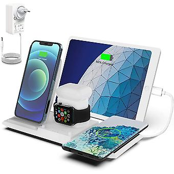 FengChun Kabelloses Ladestation, QI Wireless Charger, 5 in 1 drahtlose Ladegerät (mit 36W DC