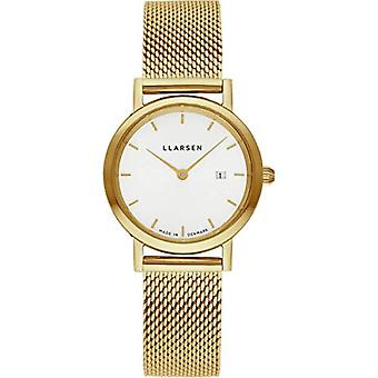 LLARSEN Analogueic Watch Quartz Woman with Stainless Steel Strap 124GWG3-MG3-14