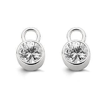 Ti Sento, Earrings Milan 7727ZI, Plated Rhodium Silver, Color: White, cod. 9001ZI(2)