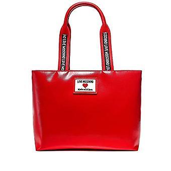 الحب موسكينو Precollezione ss21، حقيبة المتسوق المرأة، تسمية رياضي، الأحمر، عادي