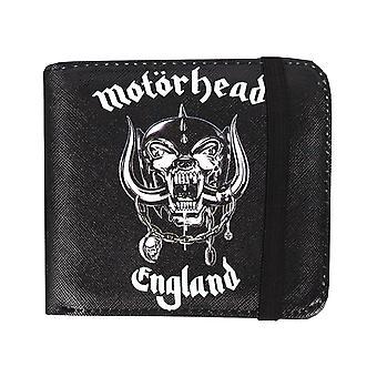 Rock Sax Motörhead Wallet Mens   MH England Warpig Logo Black Bifoldable Purse   Music Festivals Merchandise   One Size