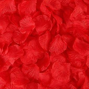Romanttinen ruusun terälehtien hääkoriste