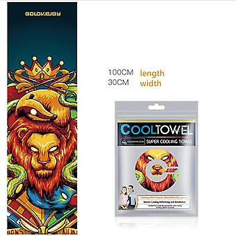 Cool Towel Fitness Quick-drying Printing Breathable Microfiber Ice Sports Towel
