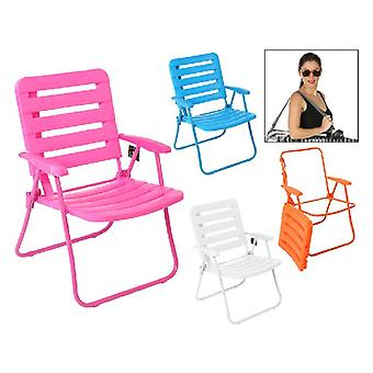 Beach Chair PVC Steel (60 x 56 x 84 cm)