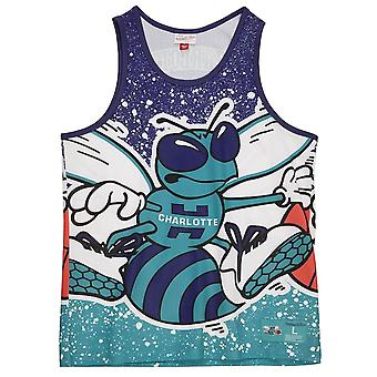 Mitchell & Ness Nba Charlotte Hornets Tank Topp MSTKAJ19070CHOHRBL basketball hele året menn t-skjorte