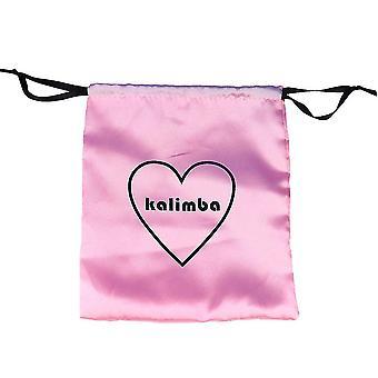 17 teclas Kalimba Thumb Piano Bag Love Heart Soft Plush Bag Pink