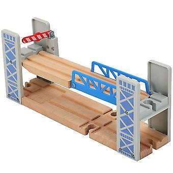 Wooden Double Deck, Bridge Overpass Toy, Diy Train Tracks, Railway Scene