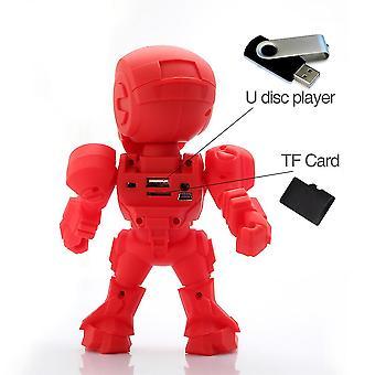 Steel Man LED Licht Lautsprecher Stereo Musik Player Wireless Bluetooth Lautsprecher